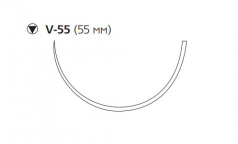 Этибонд Эксель (Ethibond Excel) 5, 4шт. по 75см, кол-реж. игла 55мм W4846
