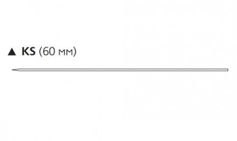 ПДС II (PDS II) 3/0, длина 70см, реж. игла 60мм W9714T