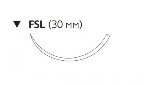 Рассасывающийся шовный материал с антибактериальным покрытием Викрил Плюс (Vicryl Plus) 3/0, длина 70см, обр-реж. игла 30мм, 3/8 окр., фиолетовая нить (VCP585H) Ethicon (Этикон)