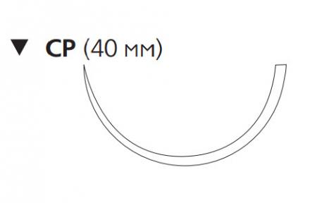 Викрил Плюс (Vicryl Plus) 1, длина 90см, обр-реж. игла 40мм VCP486H