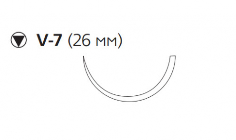 Монокрил (Monocryl) 3/0, длина 70см, кол-реж. игла 26мм W3439