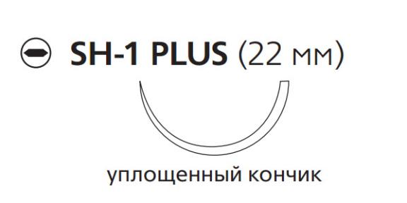 Викрил (Vicryl) 3/0, длина 70см, кол. игла 22мм V219H
