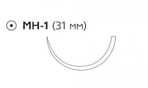 Викрил Рапид (Vicryl Rapide) 2/0, длина 70см, кол. игла 31мм W9975