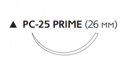 Рассасывающийся шовный материал Викрил (Vicryl) 3/0, длина 45см, реж. игла 26мм Prime, 3/8 окр., неокрашенная нить (W9521T) Ethicon (Этикон)