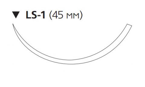 Рассасывающийся шовный материал Викрил (Vicryl) 2/0, длина 75см, обр-реж. игла 45мм, 3/8 окр., фиолетовая нить (W9282) Ethicon (Этикон)