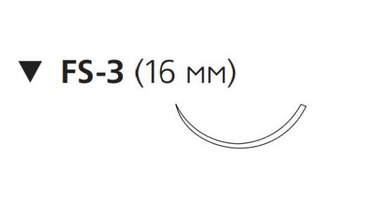 Монокрил (Monocryl) 5/0, длина 45см, обр-реж. игла 16мм W3221