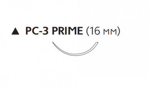Нерассасывающийся шовный материал Пролен (Prolene) 4/0, длина 45см, реж. игла 16мм Prime, 3/8 окр. (W8007T) Ethicon (Этикон)