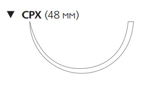 Рассасывающийся шовный материал с антибактериальным покрытием Викрил Плюс (Vicryl Plus) 2, длина 90см, обр-реж. игла 48мм, 1/2 окр., фиолетовая нить (VCP1059H) Ethicon (Этикон)