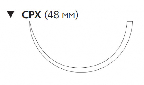 Викрил Плюс (Vicryl Plus) 2, длина 90см, обр-реж. игла 48мм VCP1059H