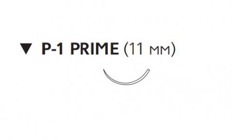 Этилон (Ethilon) 6/0, длина 45см, обр-реж. игла 11мм Prime W1610T