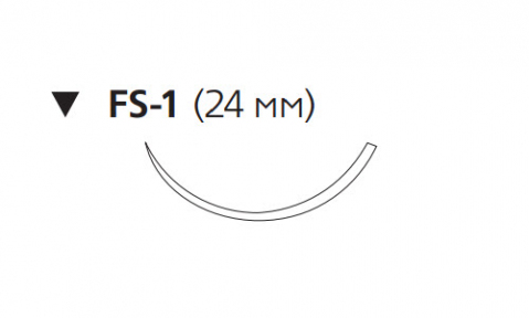 Викрил Плюс (Vicryl Plus) 3/0, длина 70см, обр-реж. игла 24мм VCP442H