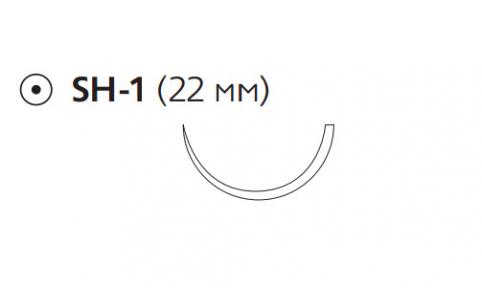 Монокрил (Monocryl) 2/0, длина 70см, кол. игла 22мм, 1/2 окр., фиолетовая нить (W3662)