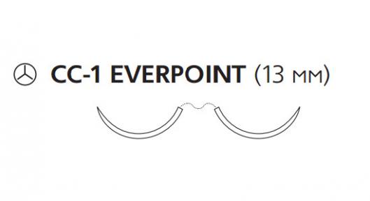 Пролен (Prolene) 7/0, длина 60см, 2 кол. иглы 13мм CC-1 Everpoint EP8813H