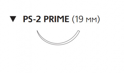 Викрил Плюс (Vicryl Plus) 4/0, длина 45см, обр-реж. игла 19мм Prime VCP496H