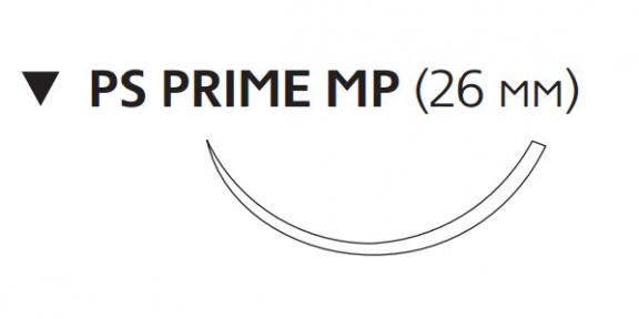 Монокрил (Monocryl) 3/0, длина 70см, обр-реж. игла 26мм Prime MPY3213H
