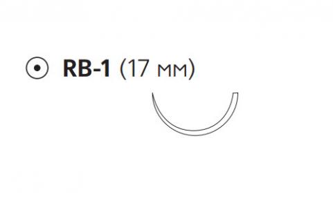 Викрил Рапид (Vicryl Rapide) 5/0, длина 75см, кол. игла 17мм W9969