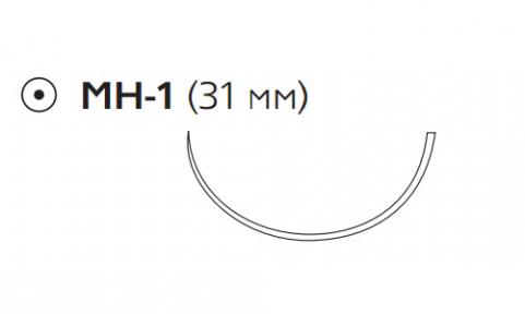 Пролен (Prolene) 2/0, длина 75см, кол. игла 31мм W295