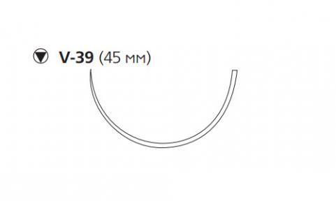 Этибонд Эксель (Ethibond Excel) 2, 4шт. по 75см, кол-реж. игла 45мм W4843