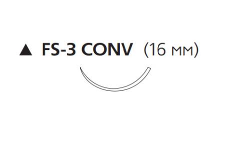 ПДС Плюс (PDS Plus) 4/0, длина 70см, реж. игла 16мм PDP9734H