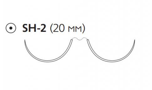 Нерассасывающийся шовный материал Пролен (Prolene) 4/0, длина 90см, 2 кол. иглы 20мм, 1/2 окр. (W8761) Ethicon (Этикон)