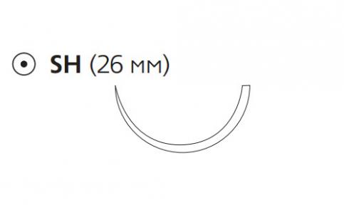 Рассасывающийся шовный материал ПДС II (PDS II) 0, длина 70см, кол. игла 26мм, 1/2 окр., фиолетовая нить (W9205H) Ethicon (Этикон)