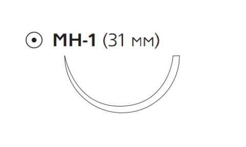Монокрил Плюс (Monocryl Plus) 3/0, длина 70см, кол. игла 31мм MCP3200H