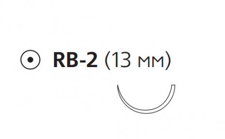 Викрил (Vicryl) 6/0, длина 45см, кол. игла 13мм W9981