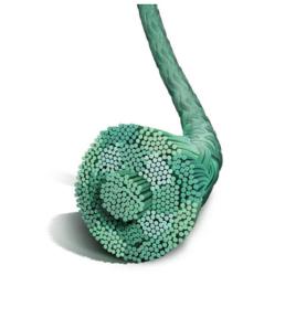 Нерассасывающийся шовный материал Этибонд Эксель (Ethibond Excel) 0, длина 180см, без иглы, зеленая нить (W6154) Ethicon (Этикон)