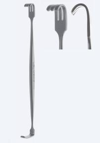 Ретрактор (ранорасширитель) раневой двусторонний Mathieu (Матьё) WH0136