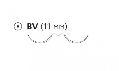 Рассасывающийся шовный материал ПДС II (PDS II) 6/0, длина 70см, 2 кол. иглы 11мм BV, 3/8 окр., фиолетовая нить (Z1002H) Ethicon (Этикон)