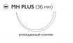 Рассасывающийся шовный материал с антибактериальным покрытием Викрил Плюс (Vicryl Plus) 1, длина 70см, кол. игла 36мм, 1/2 окр., уплощенный кончик, фиолетовая нить (VCP325H) Ethicon (Этикон)