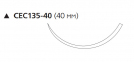 Этилон (Ethilon) 2/0, длина 75см, реж. игла 40мм W1632T