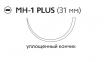 Викрил Плюс (Vicryl Plus) 1, длина 70см, кол. игла 31мм, 1/2 окр., уплощенный кончик, фиолетовая нить (VCP9213H)