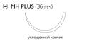 Рассасывающийся шовный материал Викрил (Vicryl) 0, длина 70см, кол. игла 36мм, 1/2 окр., уплощенный кончик, фиолетовая нить (V324H) Ethicon (Этикон)