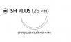 Рассасывающийся шовный материал с антибактериальным покрытием Викрил Плюс (Vicryl Plus) 0, длина 70см, кол. игла 26мм, 1/2 окр., уплощенный кончик, фиолетовая нить (VCP318H) Ethicon (Этикон)