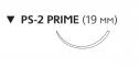 Монокрил (Monocryl) 4/0, длина 45см, обр-реж. игла 19мм Prime W3206