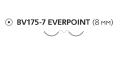 Нерассасывающийся шовный материал Пролен (Prolene) 7/0, длина 60см, 2 кол. иглы 8мм BV175 Everpoint, 3/8 окр. (ЕР8766Н) Ethicon (Этикон)