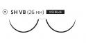 Пролен (Prolene) 2/0, длина 75см, 2 кол. иглы 26мм Visi Black W8355