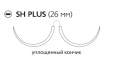 Рассасывающийся шовный материал Монокрил (Monocryl) 3/0, длина 70см, 2 кол. иглы 26мм, 1/2 окр., уплощенный кончик, фиолетовая нить (W3627) Ethicon (Этикон)